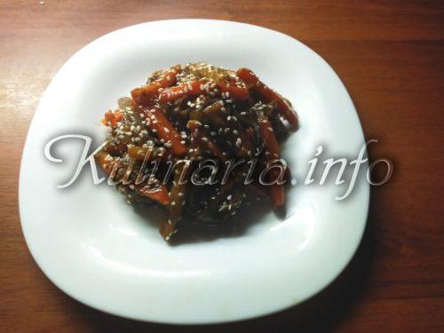 Баклажаны по корейски с соевым соусом