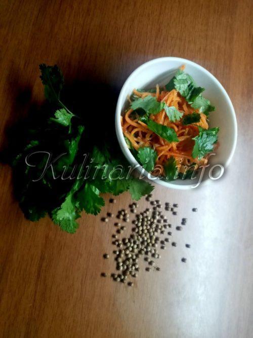 морковь по-корейски с зеленью