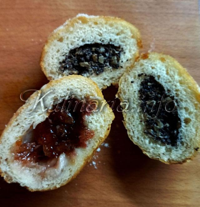 пончики с начинкой внутри