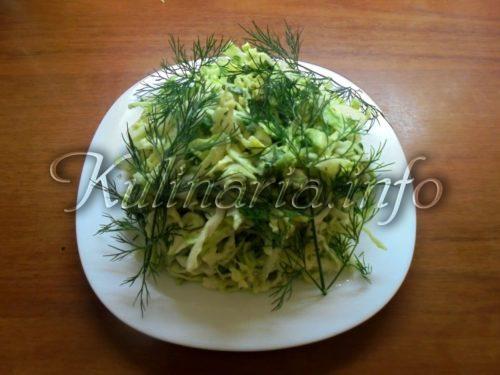 Салат из капусты с укропом