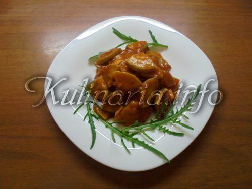 кабачки кусочками на зиму в томатном соусе
