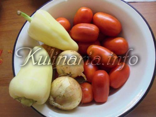 помидоры, перец, лук
