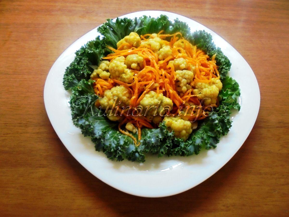 рецепт цветной капусты по-корейски