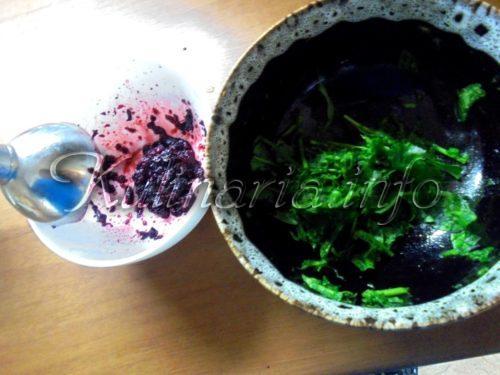 шпинат и ягоды