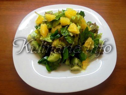салат из листа салата с апельсином