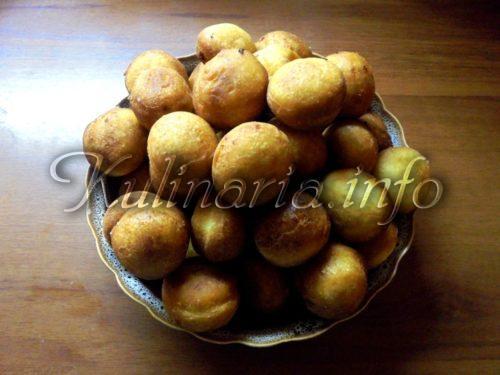 творожные жареные пончики