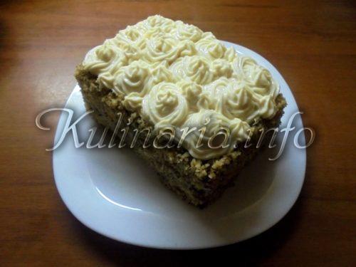 Пирог на кефире с орехами
