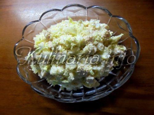 салат белоснежка