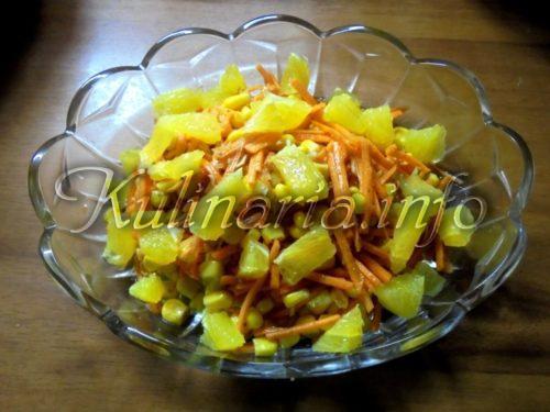 морковка по-корейски с апельсином