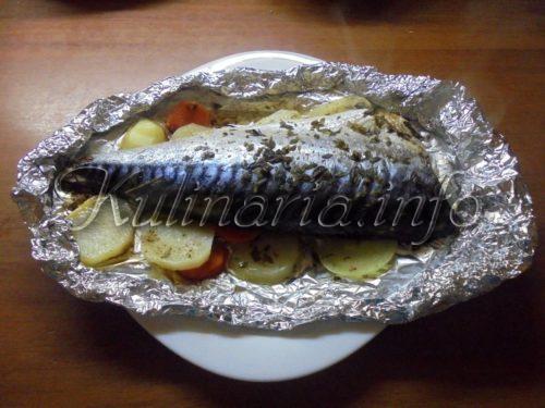 сколько запекать рыбу на овощной подушке