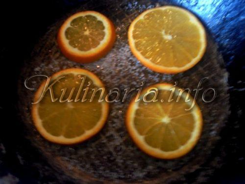 как пожарить апельсины