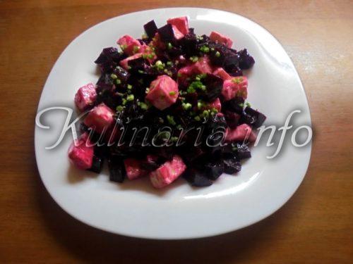 салат из свёклы и сыра Фета