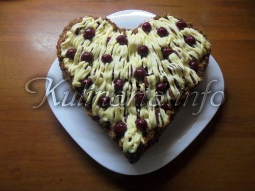 торт вишнёвый поцелуй