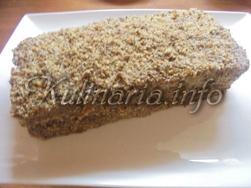 ореховый торт со сгущёнкой
