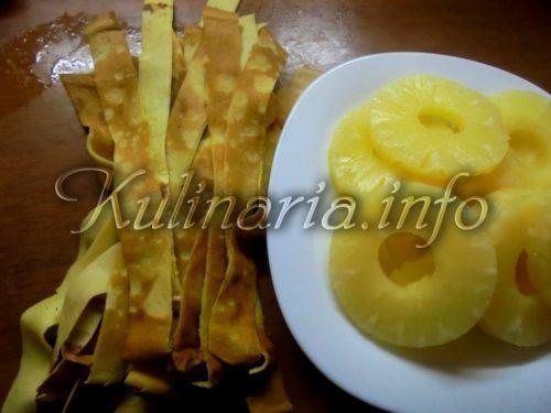 блины с ананасами консервированными