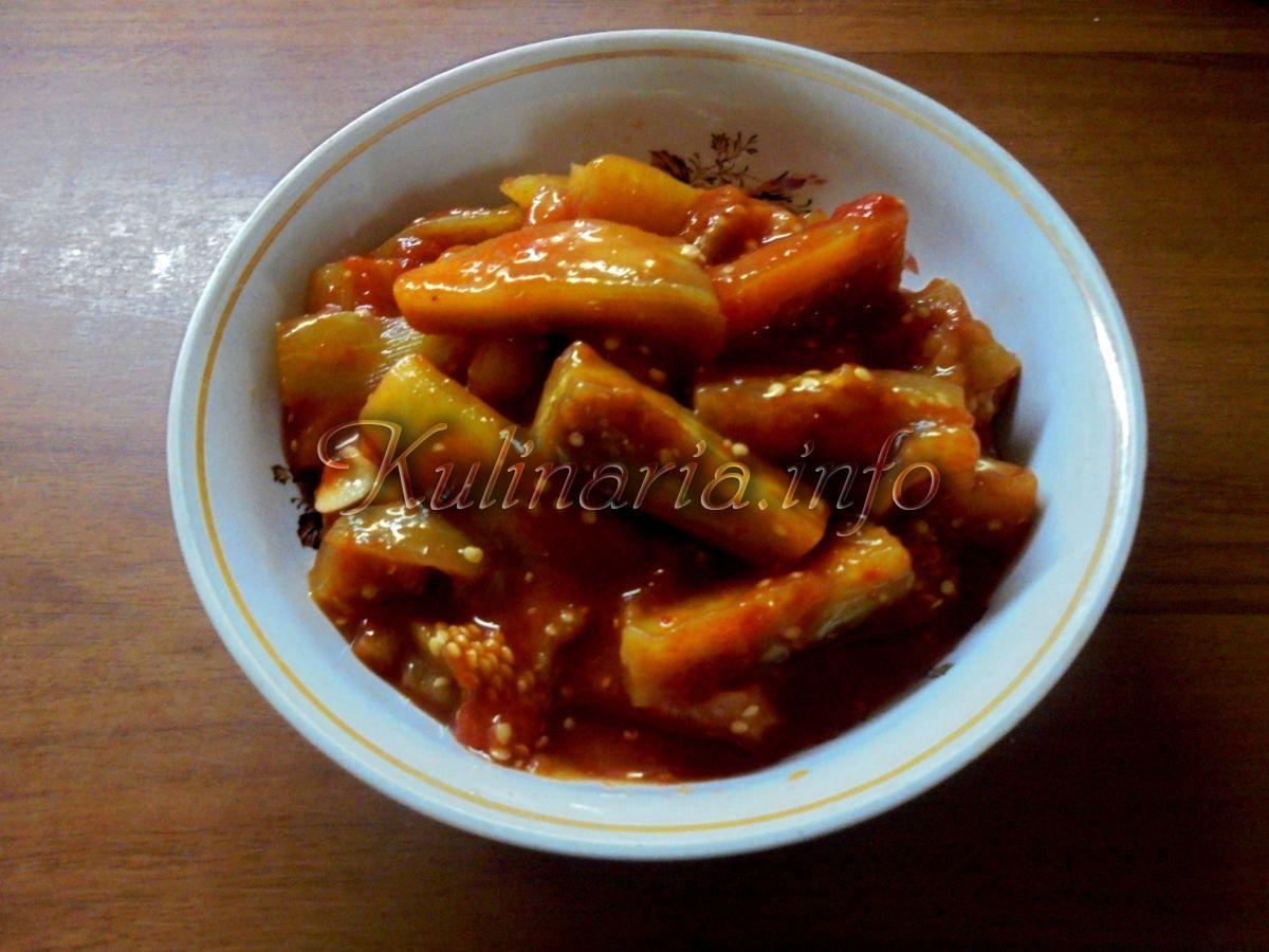 Баклажаны в томатном соку