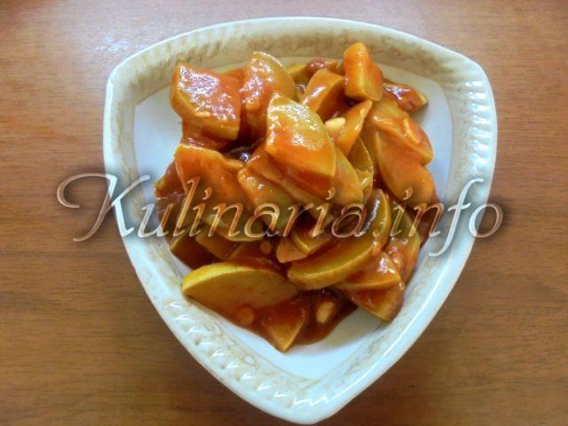 консервированные кабачки в томатном соусе