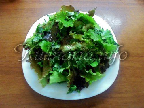 что приготовить из листьев салата фото