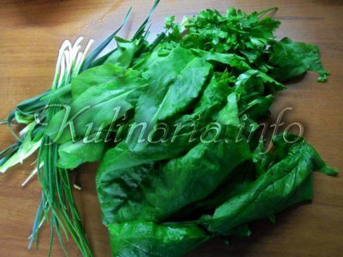 щавель и шпинат