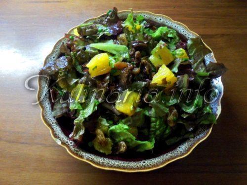 салат с апельсином и изюмом