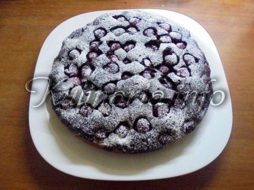 вишнёвый пирог простой рецепт
