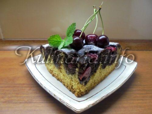 шоколадно вишнёвый пирог