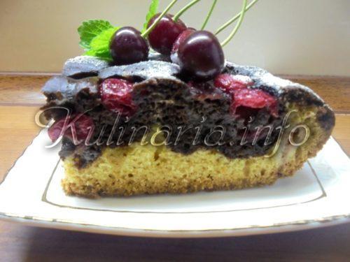 вишнёвый пирог рецепт с фото пошагово