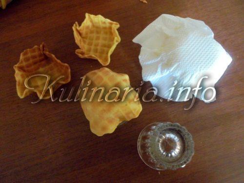 тарталетки из домашних вафель