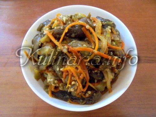 баклажаны с луком и морковью