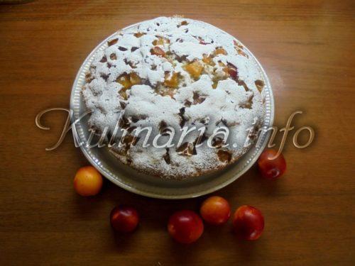 сливовый пирог на кефире без сливочного масла
