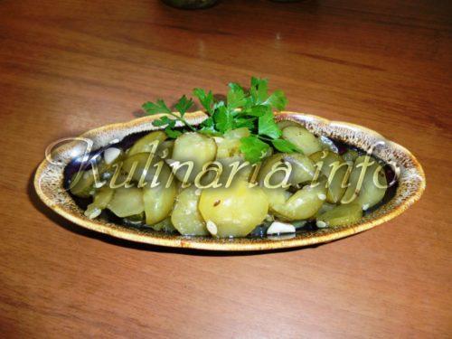 салат из огурцов к ужину