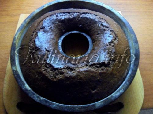 пирог брауни кекс после выпекания