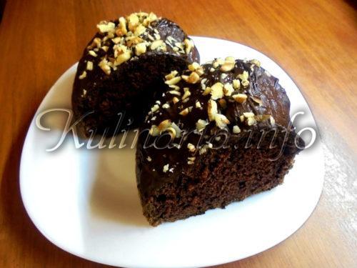 пирог брауни шоколадный с орехами