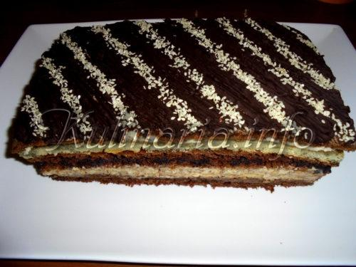 торт брауни с черносливом