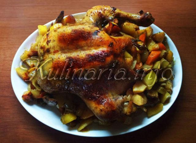 Курица c духовки