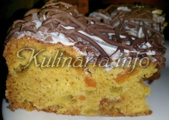 пирог с курагой в разрезе