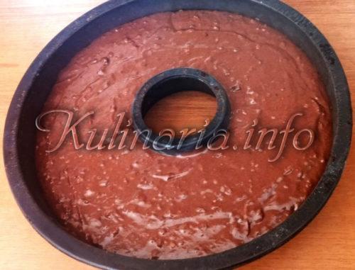 Силиконовая форма для шоколадного кекса на сметане