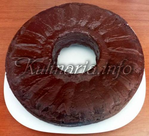 кекс после выпекания с шоколадом