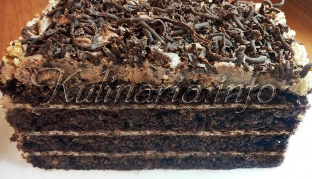 Шоколадно-кофейный торт 4 слоя