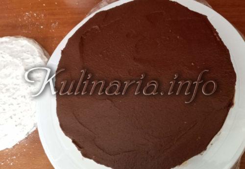 выравнивание шоколадного крема для торта рахат