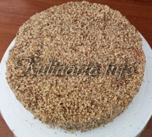 крем + ореховая крошка на торт рахат