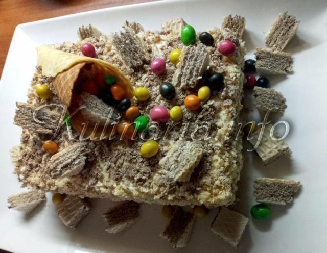 торт Иришка с вафельной крошкой