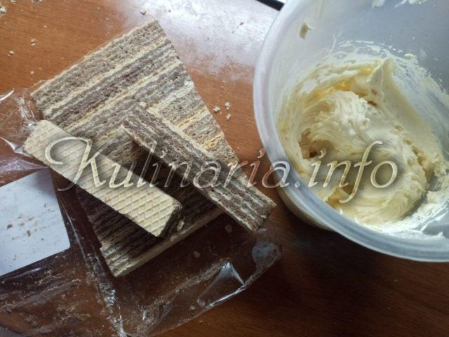 крем для торта с вафельной крошкой